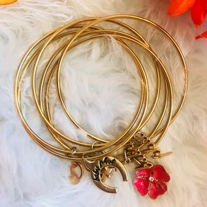 Baby Phat Gold Colored Bracelets (Connected)